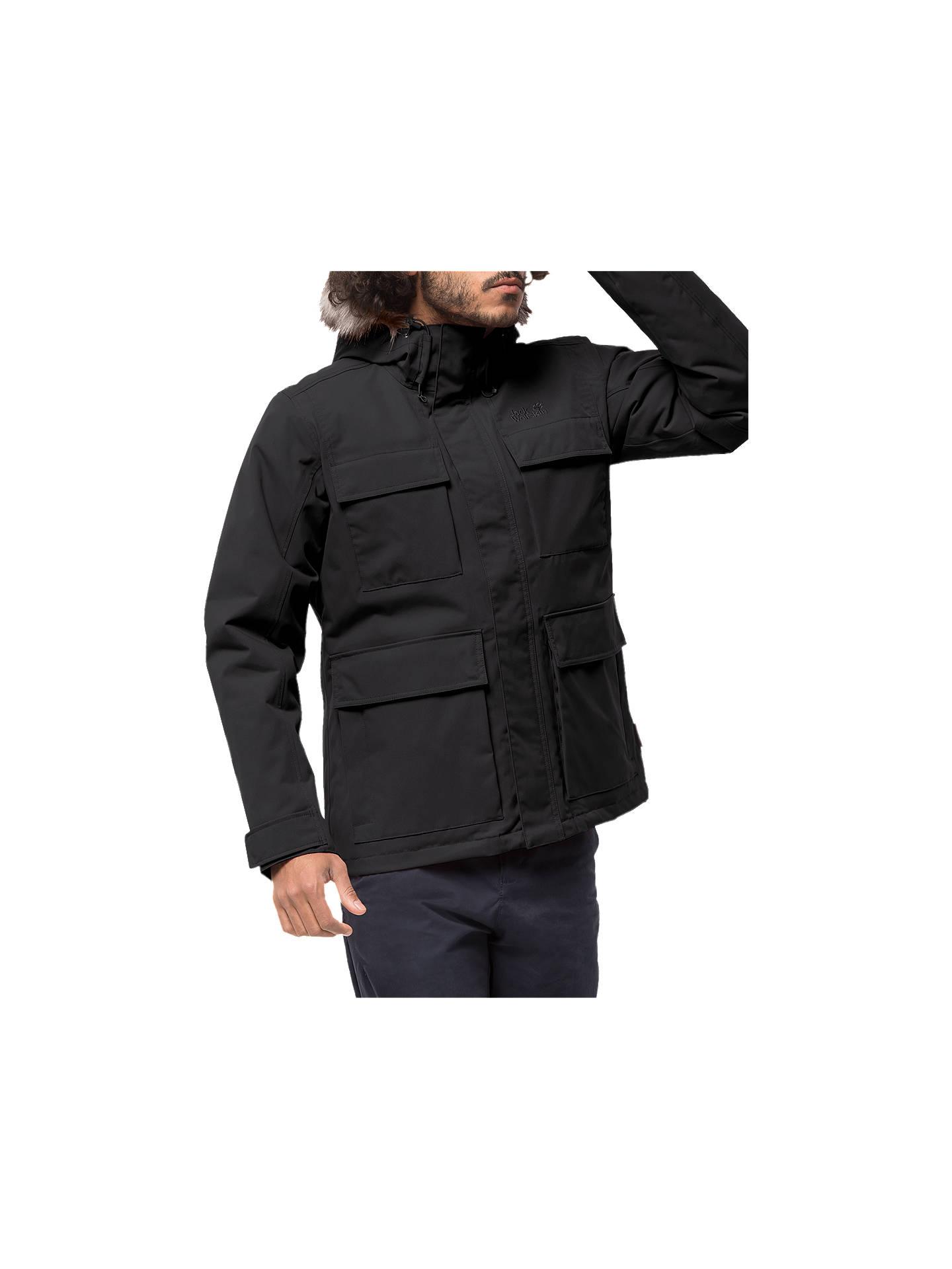 8e14003418 Buy Jack Wolfskin Point Barrow Men's Jacket, Black, XL Online at johnlewis.  ...