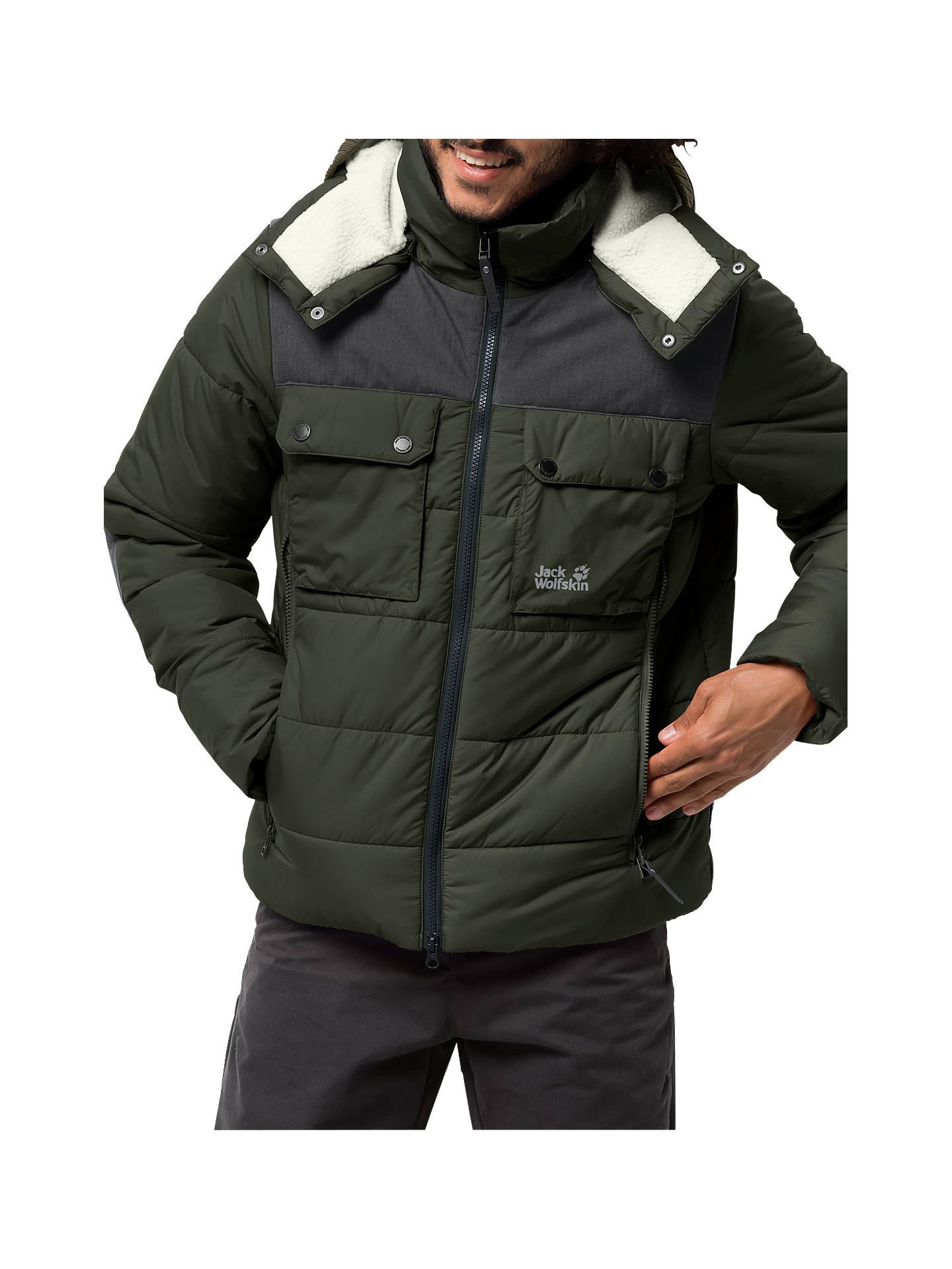 56590f7828 Buy Jack Wolfskin High Range Insulated Men's Jacket, Pinewood, M Online at  johnlewis.