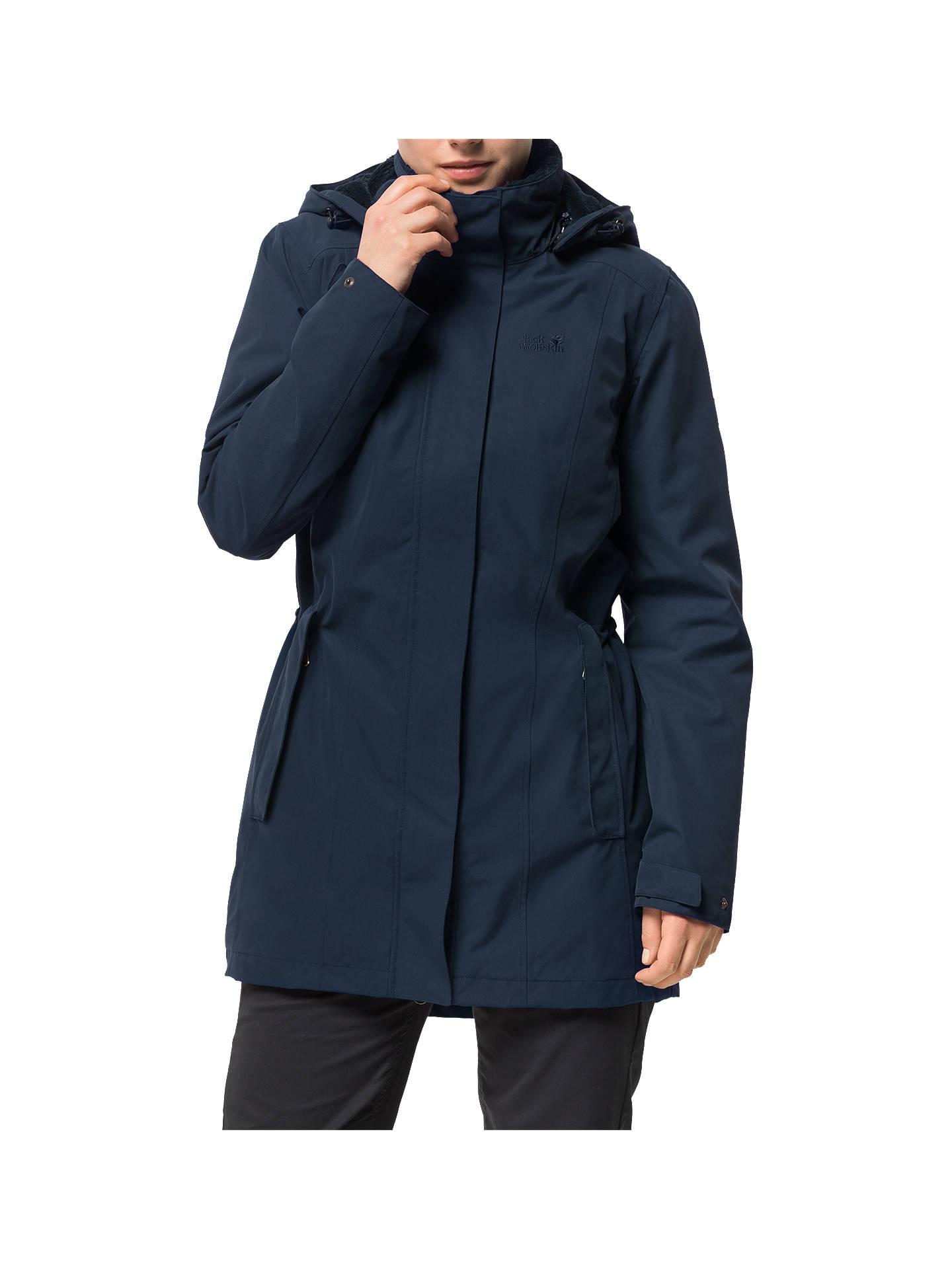 d6a7ac0683a Jack Wolfskin Madison Avenue Women's Coat, Blue at John Lewis & Partners