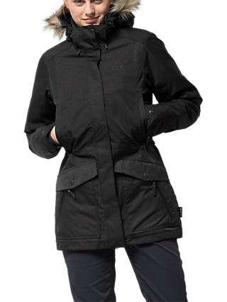 Jack Wolfskin Coastal Range Women's Waterproof Parka, Black