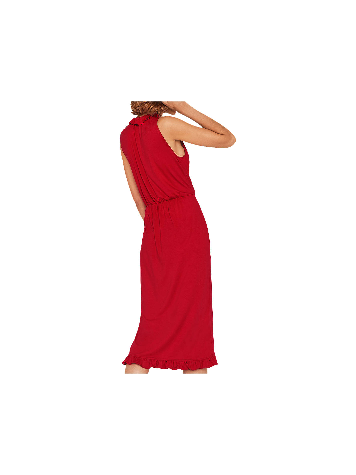 a33f0367df5b ... Buy Oasis Frill Wrap Midi Dress, Mid Red, S Online at johnlewis.com ...
