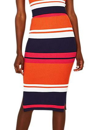 Oasis Striped Knitted Skirt, Multi
