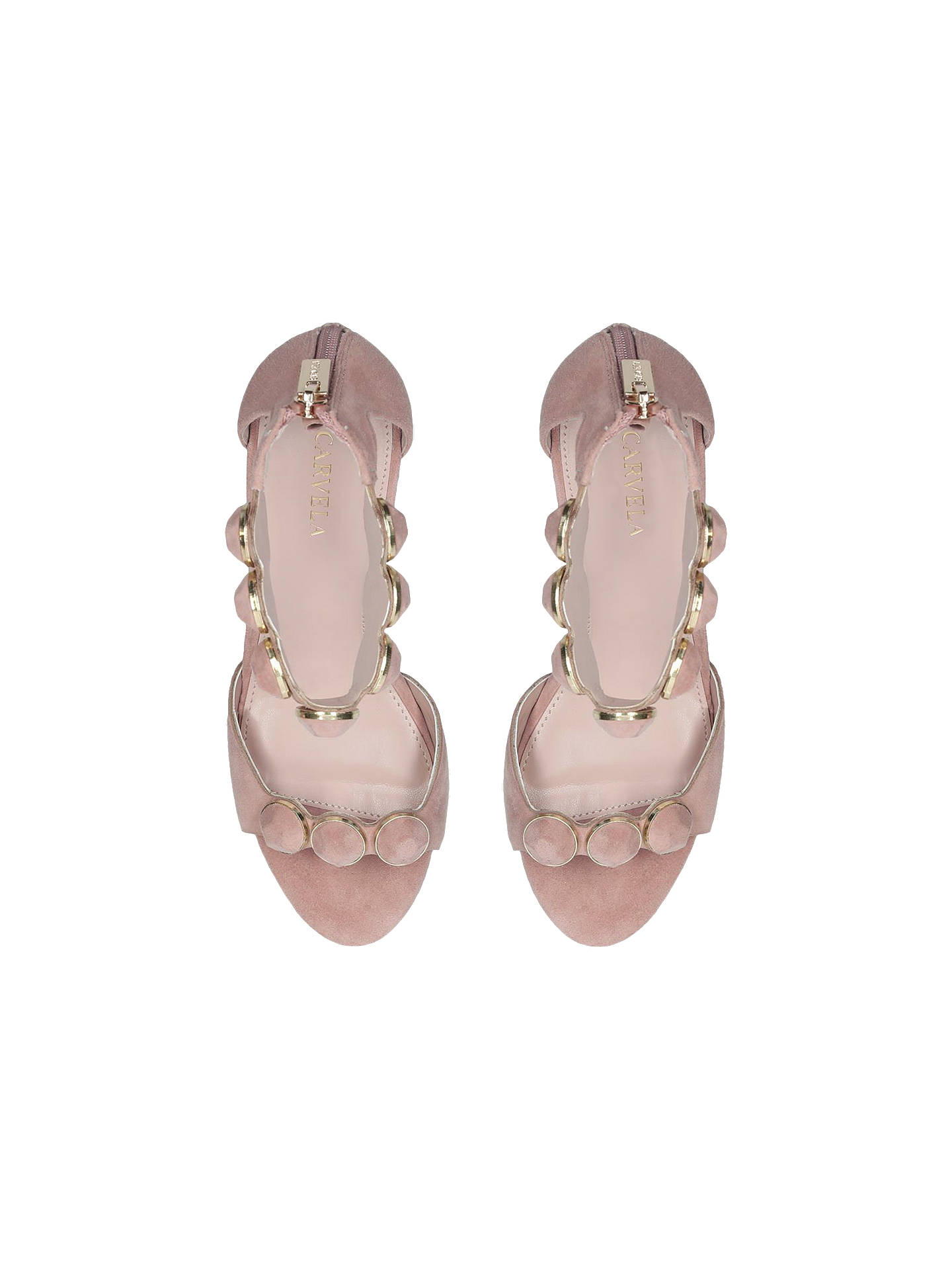 BuyCarvela Gillian Block Heel Sandals, Natural, 3 Online at johnlewis.com