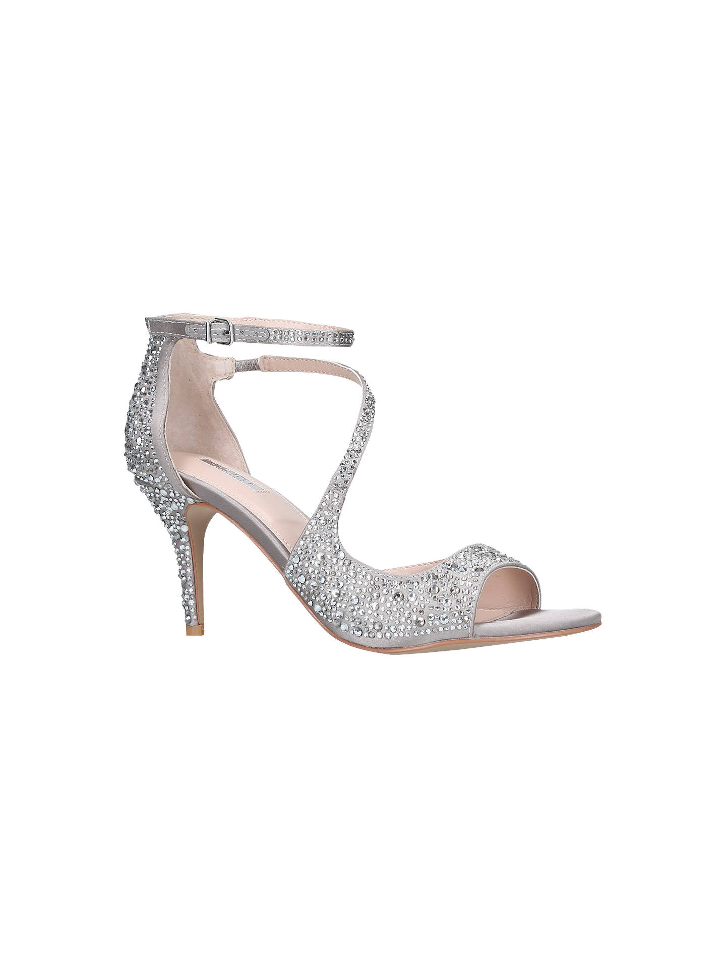 BuyCarvela Gamma 2 Embellished Stiletto Sandals, Silver, 3 Online at johnlewis.com