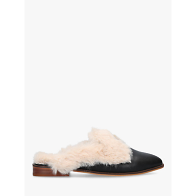KG Kurt Geiger Mason Faux Fur Slip On Mules, Black