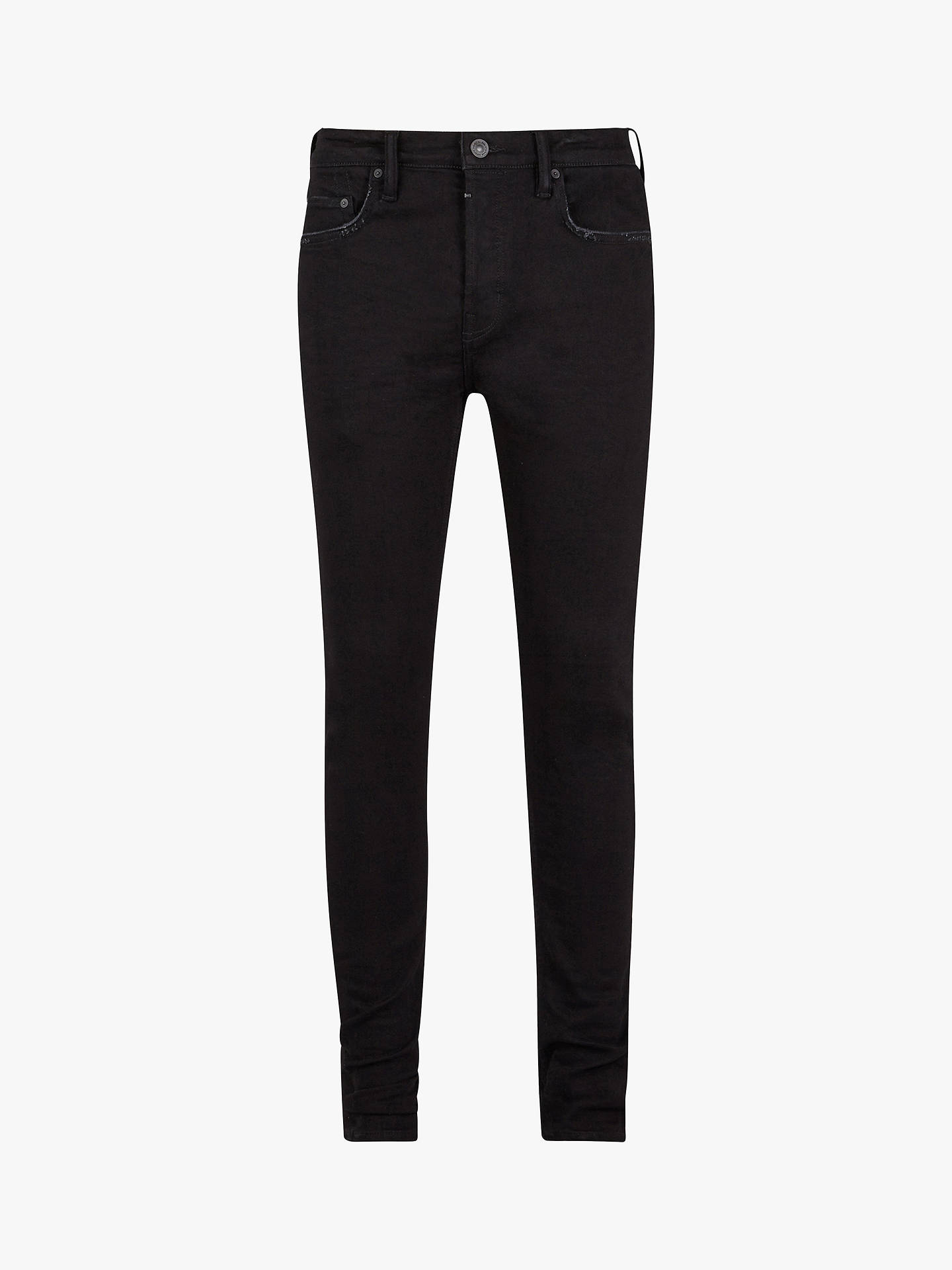 BuyAllSaints Cigarette Skinny Fit Jeans, Jet Black, 28R Online at johnlewis.com