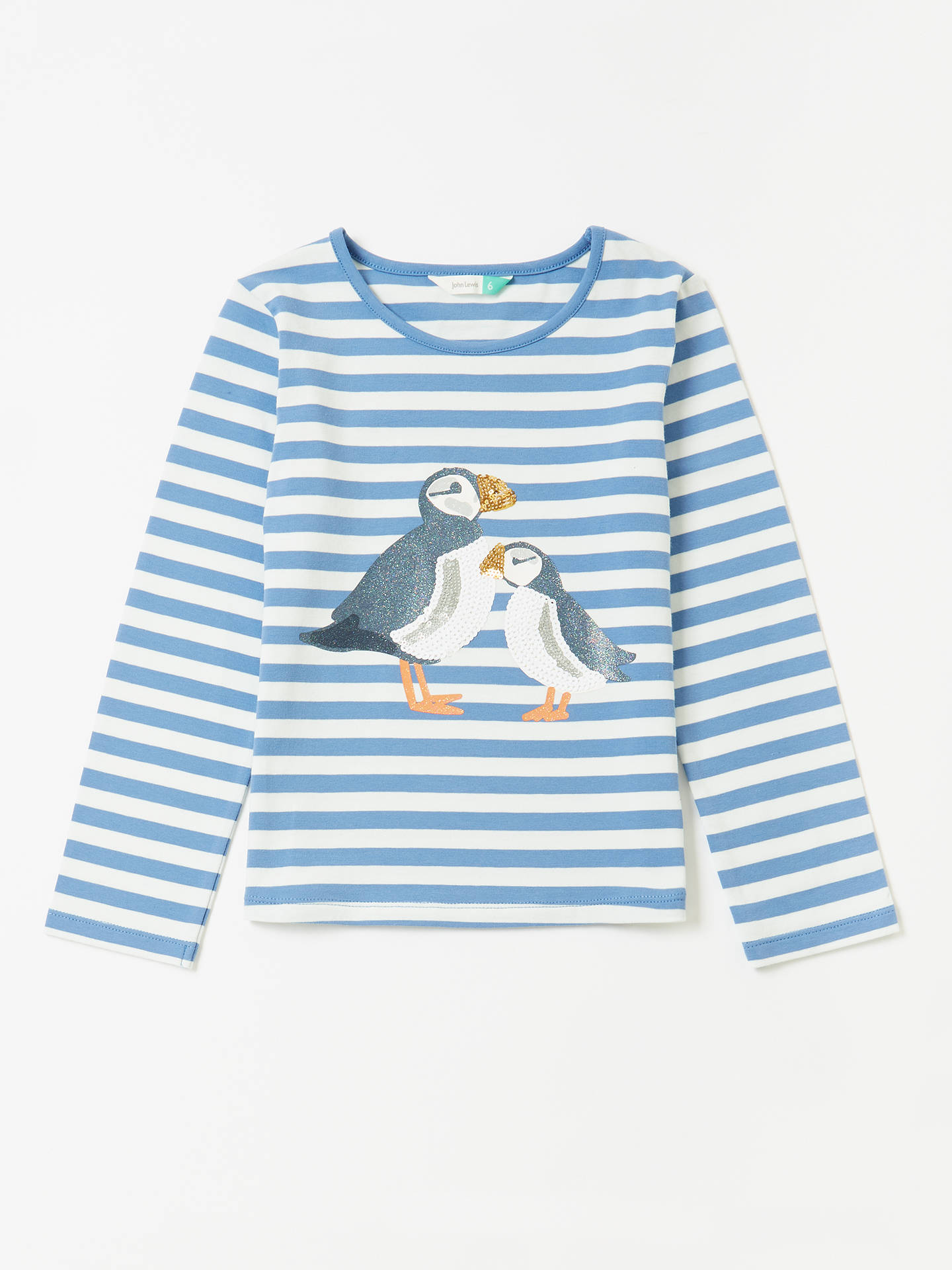 8d646007ea3 Buy John Lewis   Partners Girls  Puffin T-Shirt