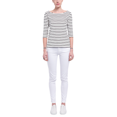 Image of French Connection Eso Tim Tim Narrow Stripe Long Sleeve Top