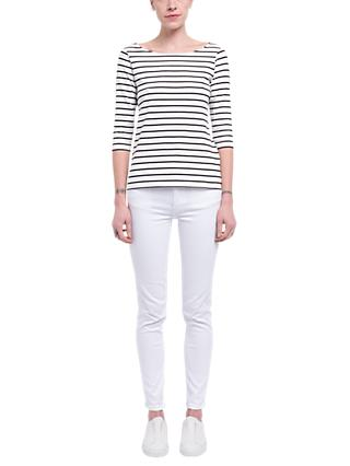 French Connection Eso Tim Tim Narrow Stripe Long Sleeve Top