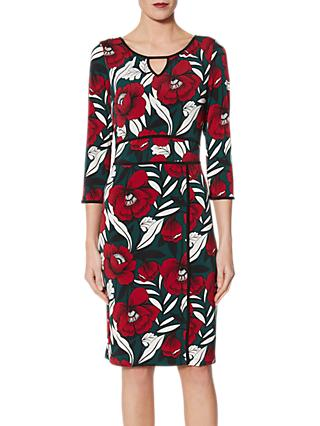 Gina Bacconi Hetty Trim Jersey Dress, Multi