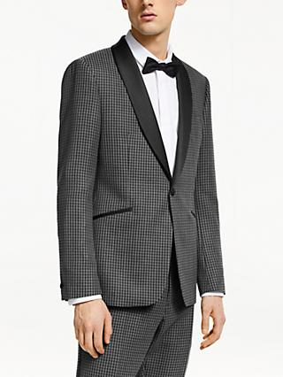 Kin Graphic Weave Slim Fit Dress Suit Jacket, Grey