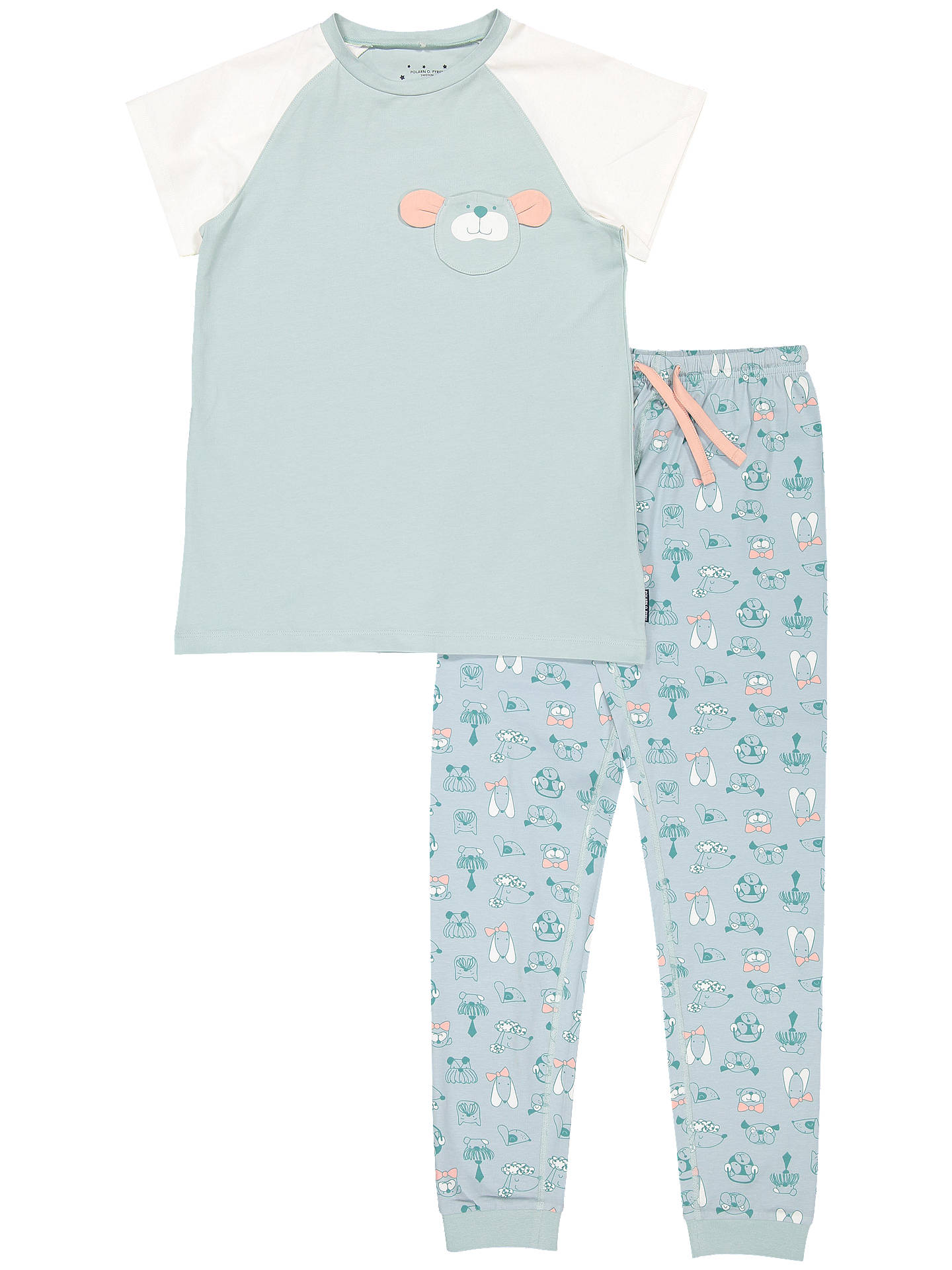 BuyPolarn O. Pyret Baby Organic Cotton Dog Pyjamas, Green, 12-24 months Online at johnlewis.com
