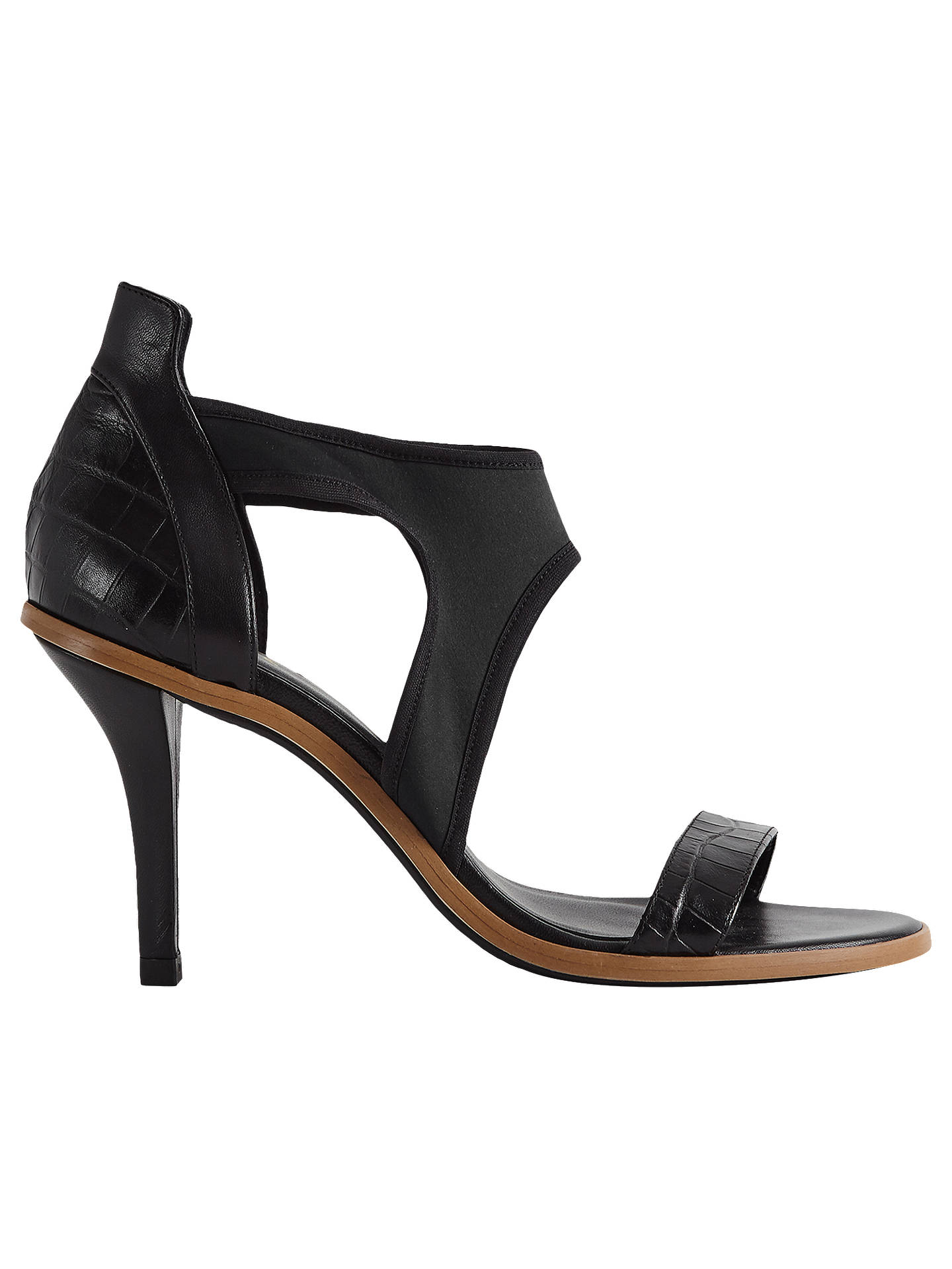 BuyReiss Camille High-Heeled Strappy Sandals, Black, 5 Online at johnlewis.com