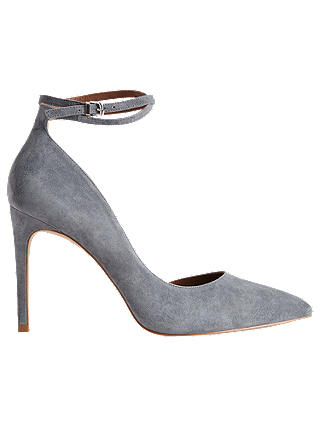 Buy Reiss Lya Suede Ankle Strap Shoes, Blue, 7 Online at johnlewis.com