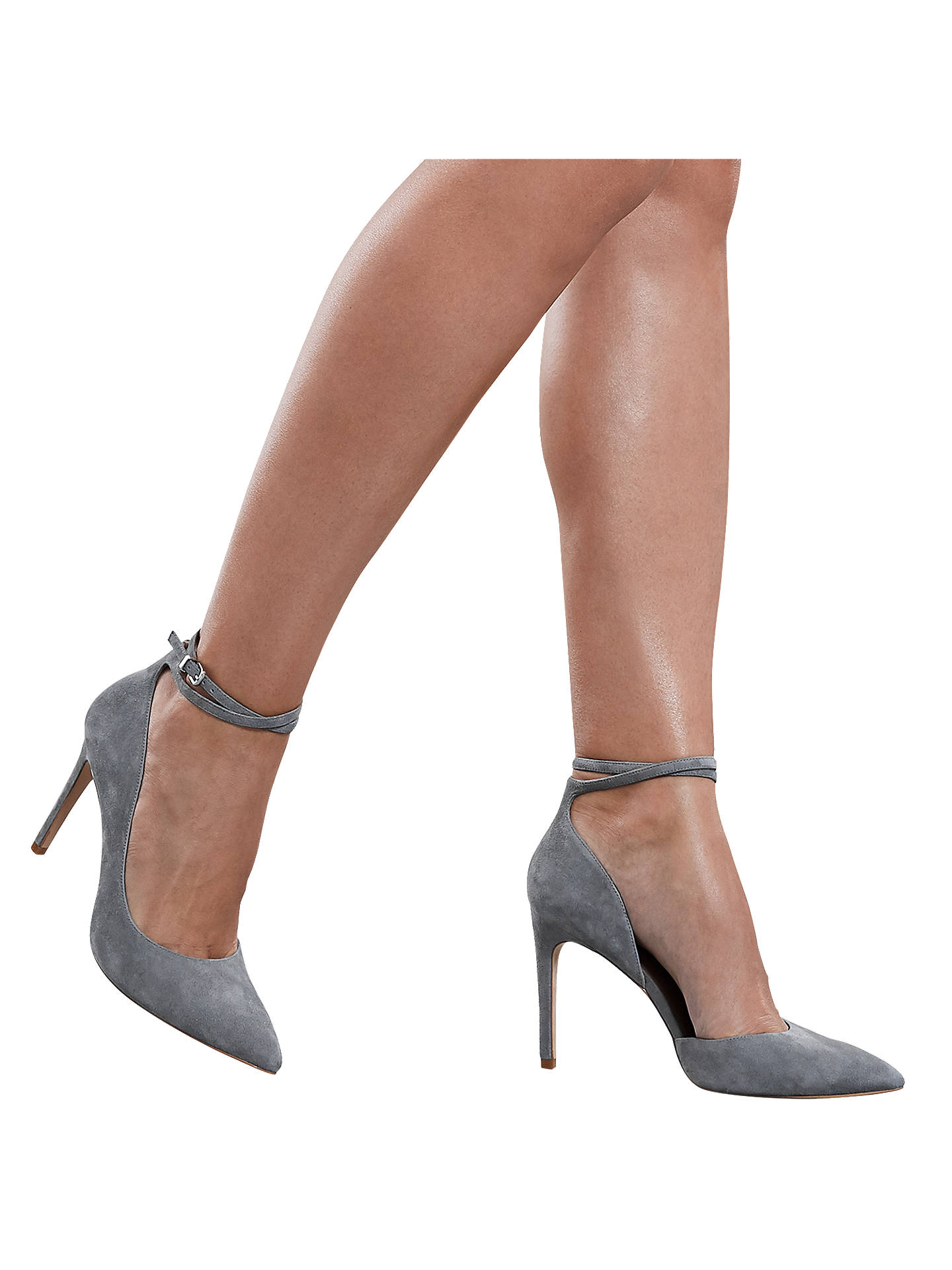 BuyReiss Lya Suede Ankle Strap Shoes, Blue, 7 Online at johnlewis.com