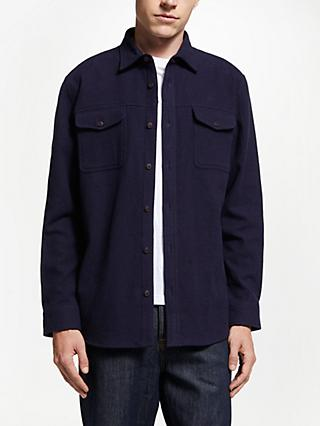 JOHN LEWIS & Co. Textured Shacket, Navy