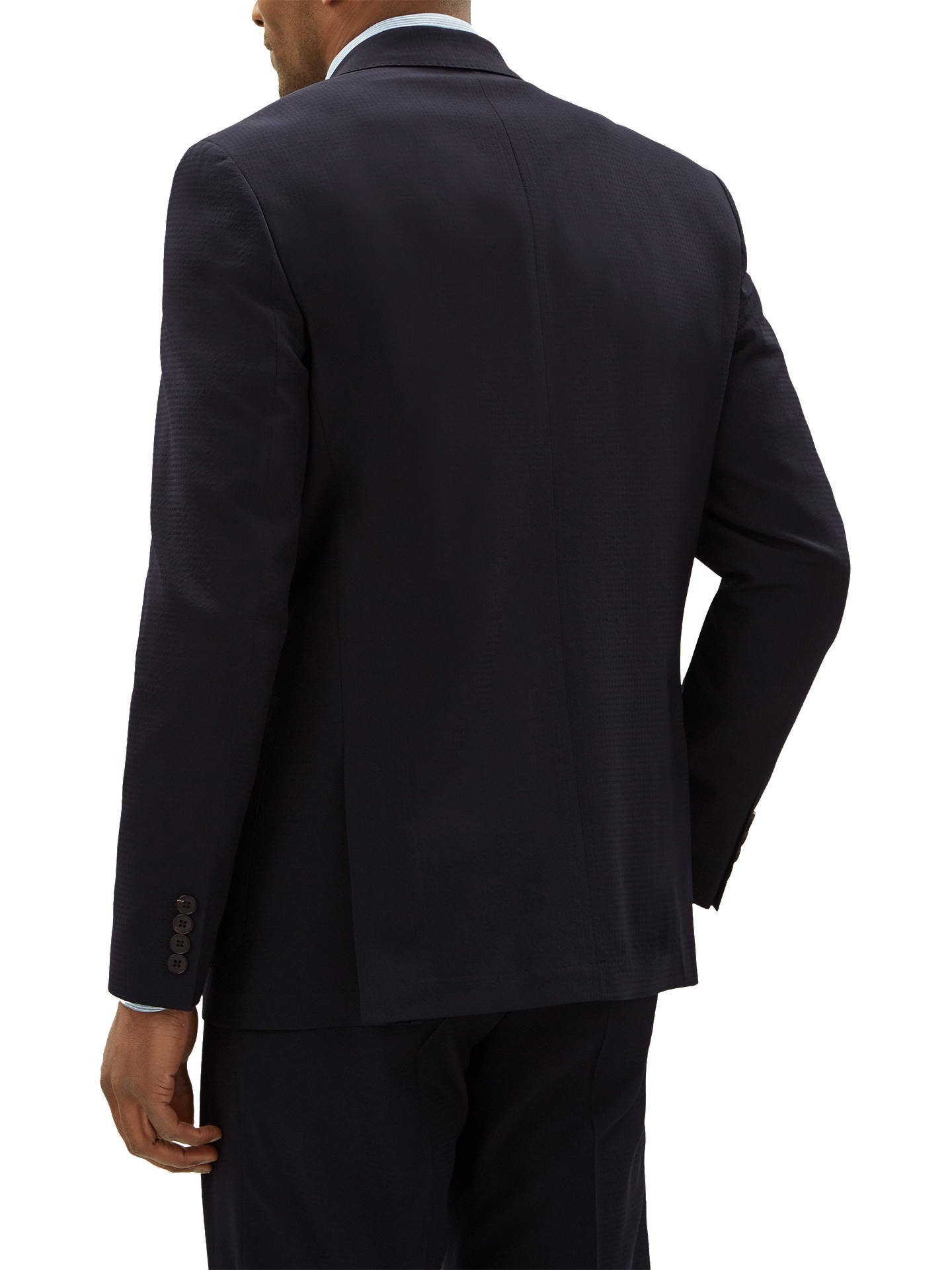 Buy Jaeger Textured Seersucker Regular Fit Suit Jacket, Navy, 38S Online at johnlewis.com