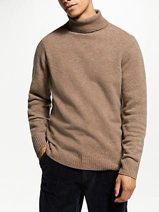 JOHN LEWIS & Co. Yak Neps Rollneck, Brown