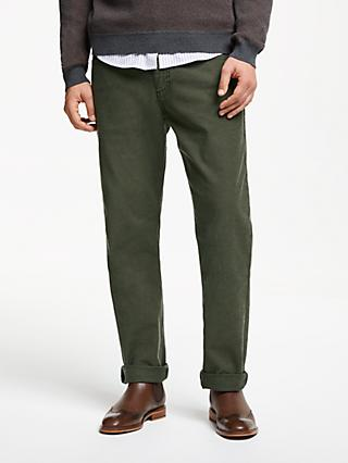 John Lewis & Partners Stretch Five Pocket Herringbone Trousers