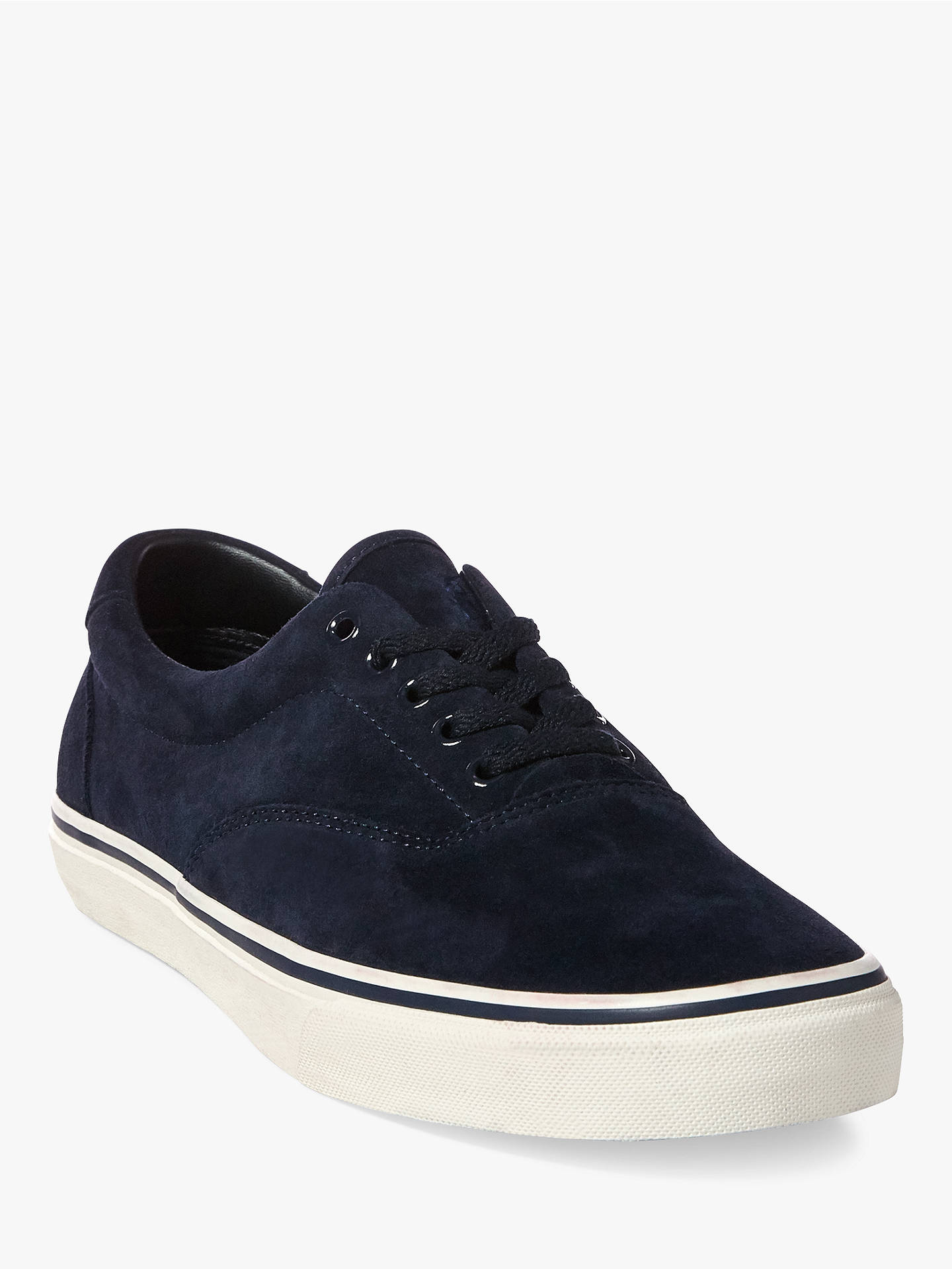 Buy Polo Ralph Lauren Thorton Suede Trainers, Deep Olive, 10 Online at johnlewis.com