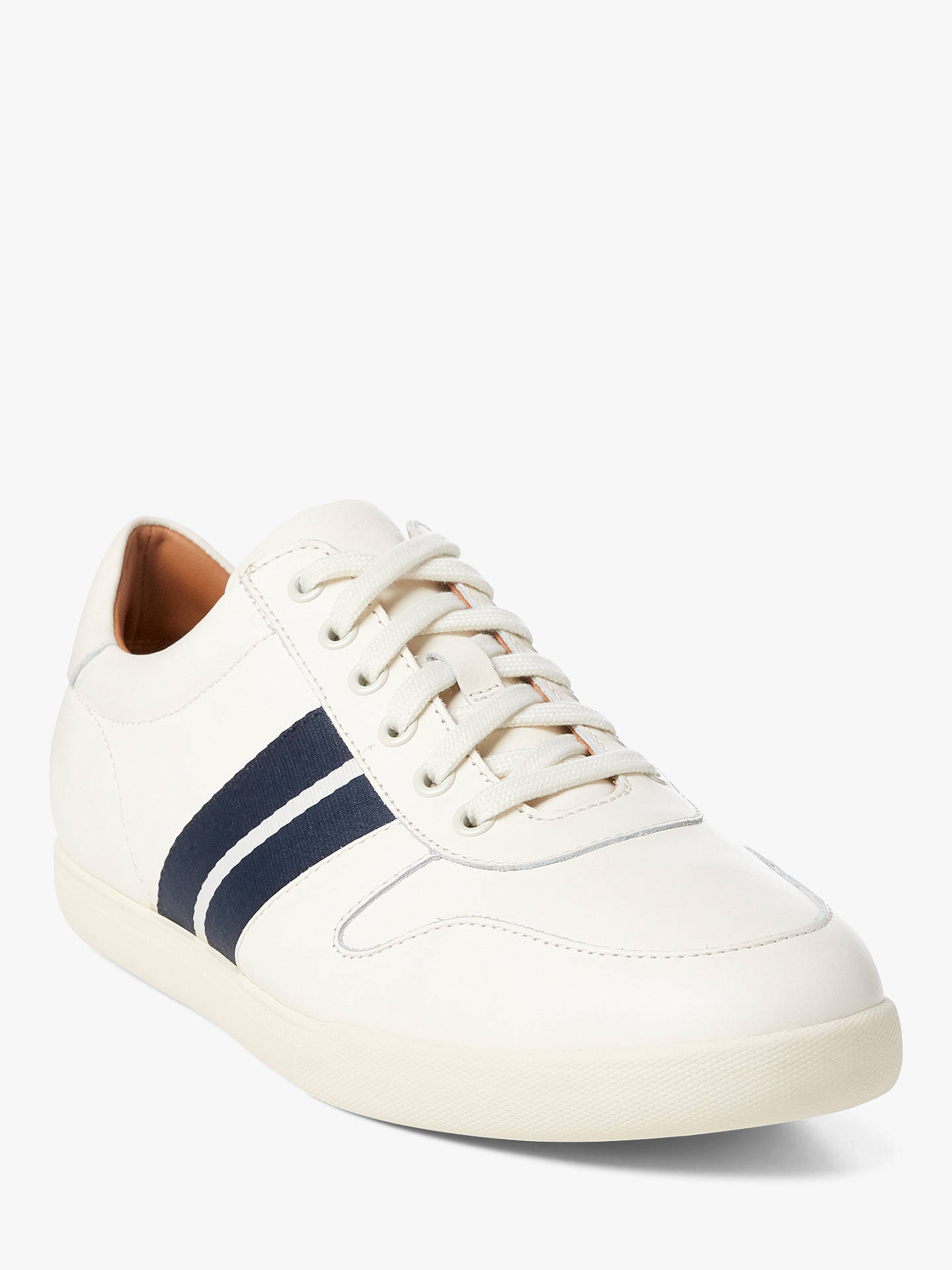 Buy Polo Ralph Lauren Camilo Trainers, White, 7 Online at johnlewis.com
