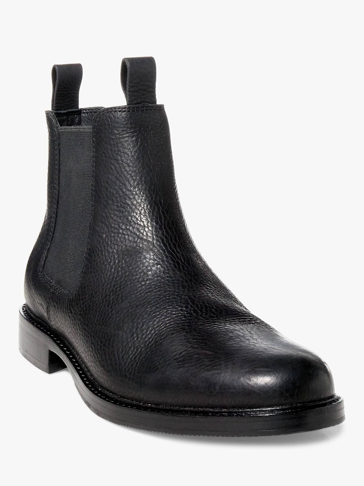 ... BuyPolo Ralph Lauren Normanton Leather Chelsea Boots, Black, 9 Online  at johnlewis.com ... 0136a14e8928