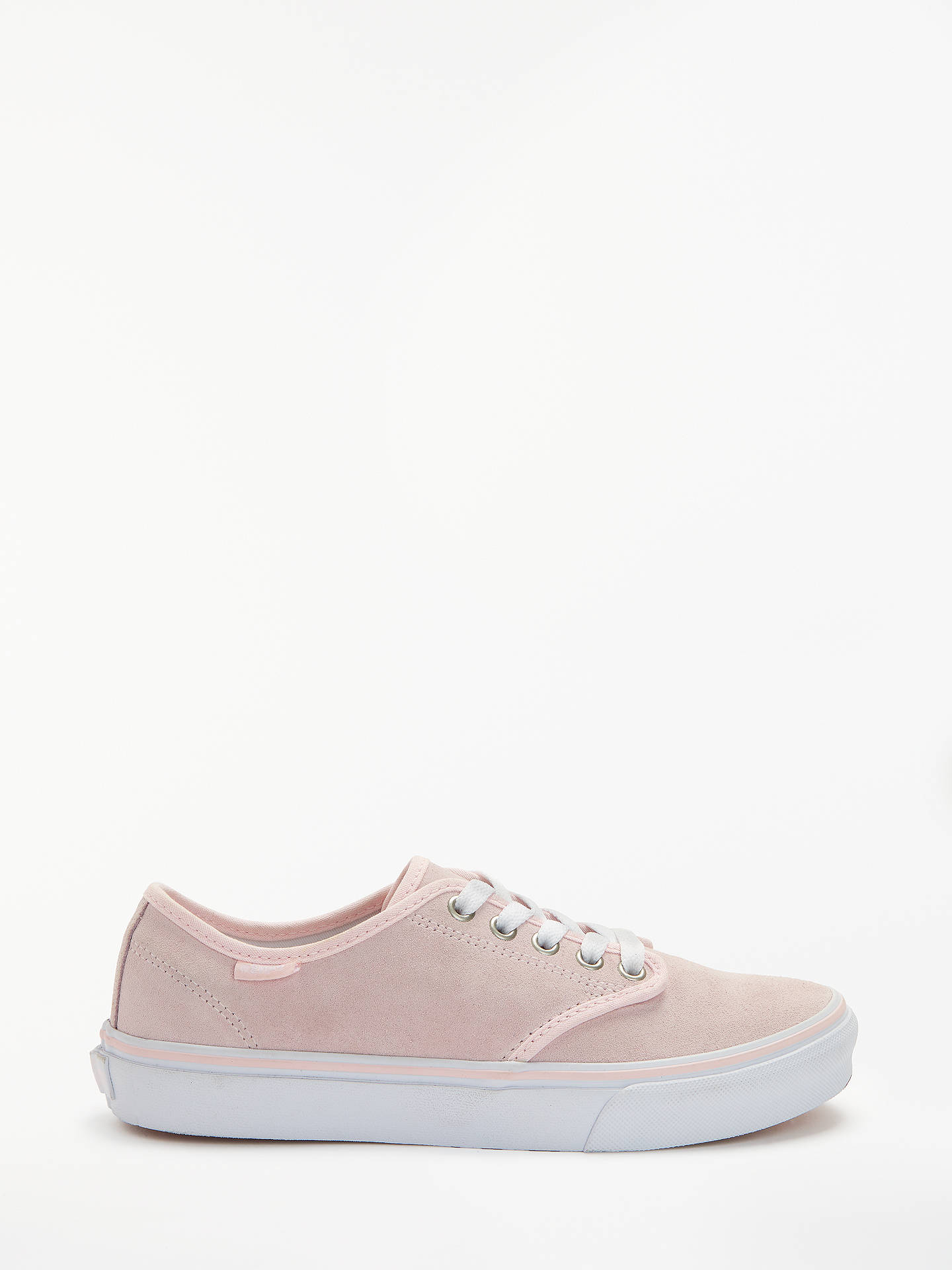 bc21e9377 Buy Vans Camden Stripe Trainers, Pink Suede, 4 Online at johnlewis.com ...