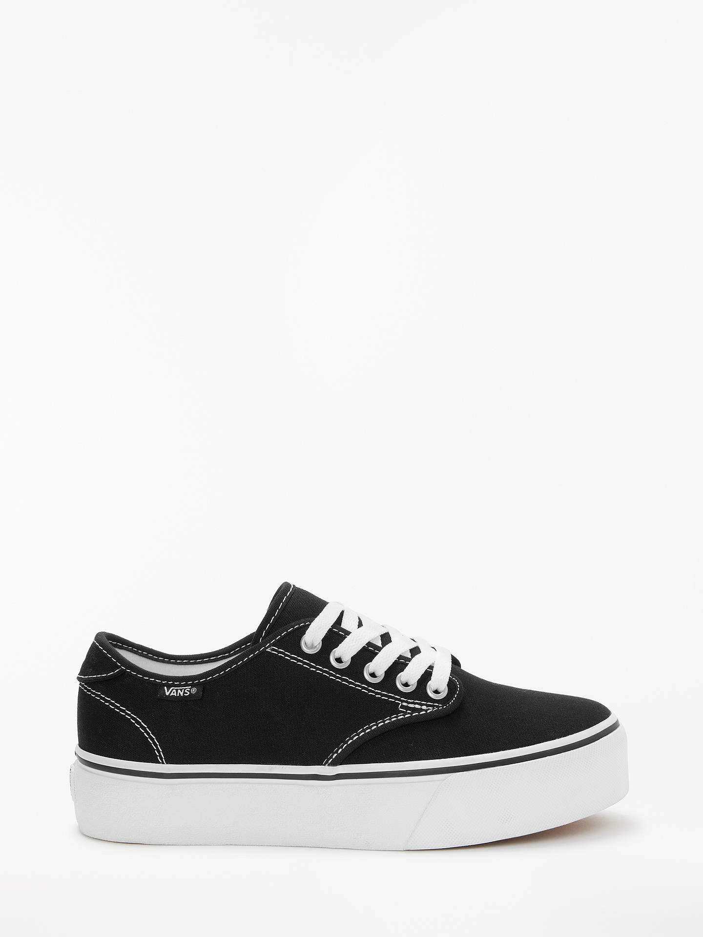 27725ab68 Buy Vans Camden Platform Canvas Trainers, Black, 5 Online at johnlewis.com  ...
