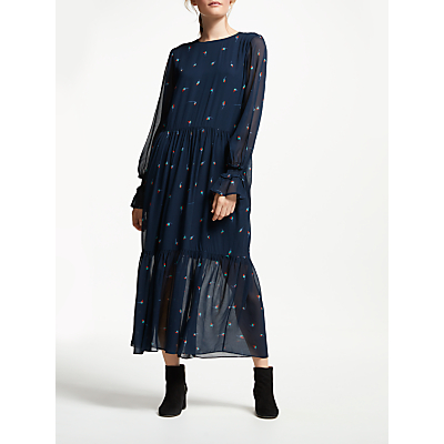 Just Female Ambre Maxi Dress, Navy