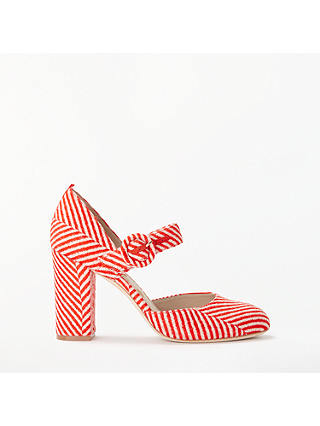 Buy Boden Evie Block Heel Mary Jane Court Shoes, Gladioli, 4 Online at johnlewis.com