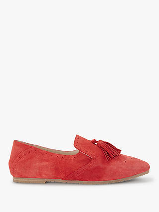 Buy Boden Erin Pointed Toe Loafers, Post Box Red Suede, 5 Online at johnlewis.com