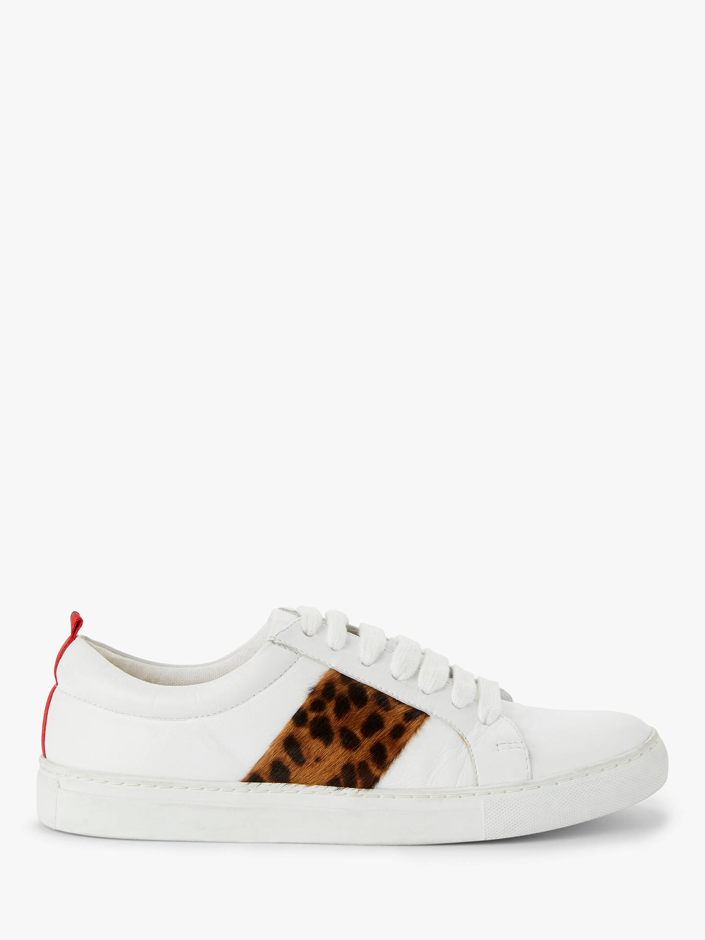 BuyBoden Classic Trainers, Tan Leopard Leather, 4 Online at johnlewis.com