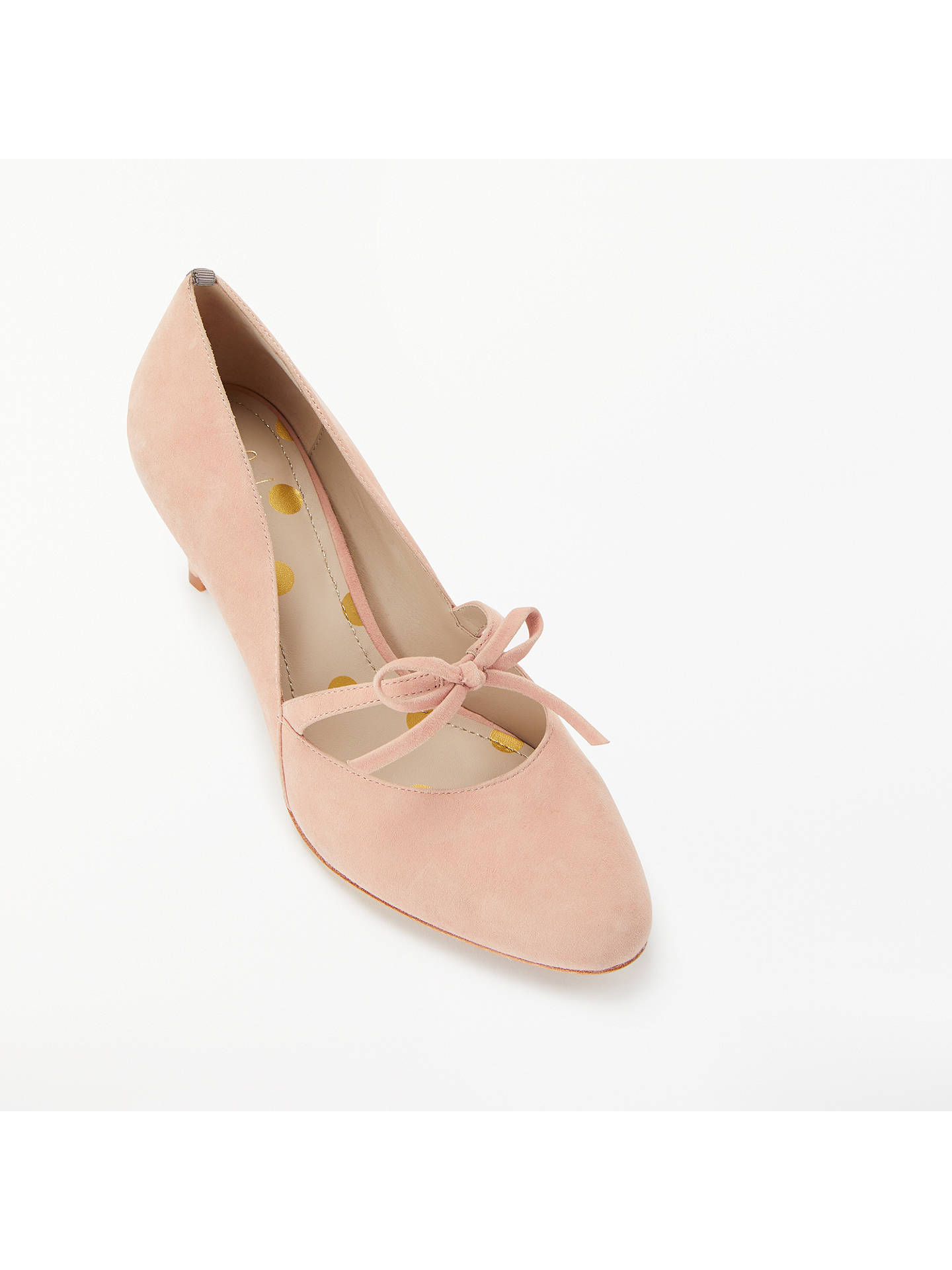 Buy Boden Anthea Bow Detail Court Shoes, Fawn Rose Suede, 4 Online at johnlewis.com