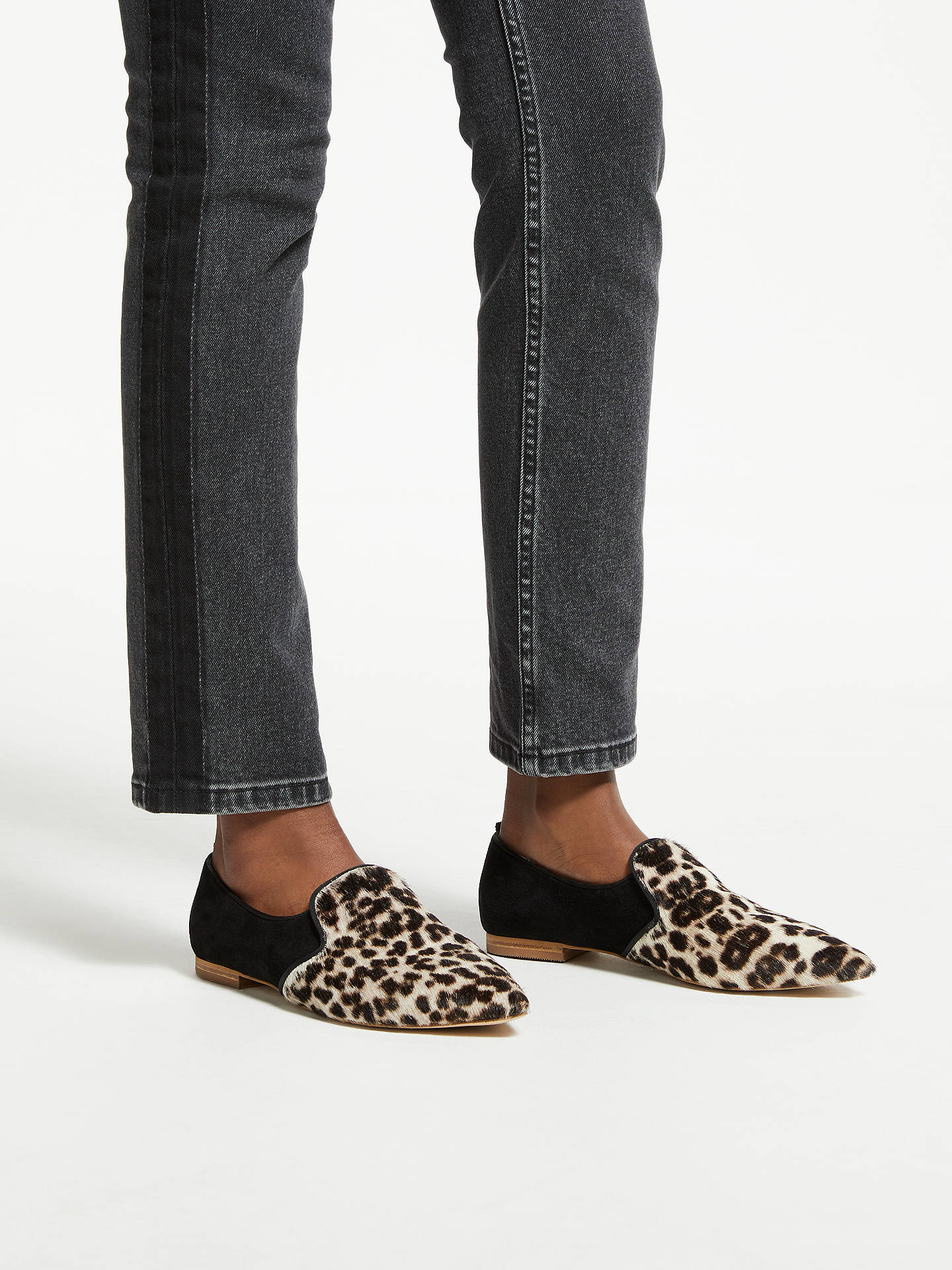 Buy Boden Rosie Hair-On-Hide Loafers, Black/Multi, 4 Online at johnlewis.com