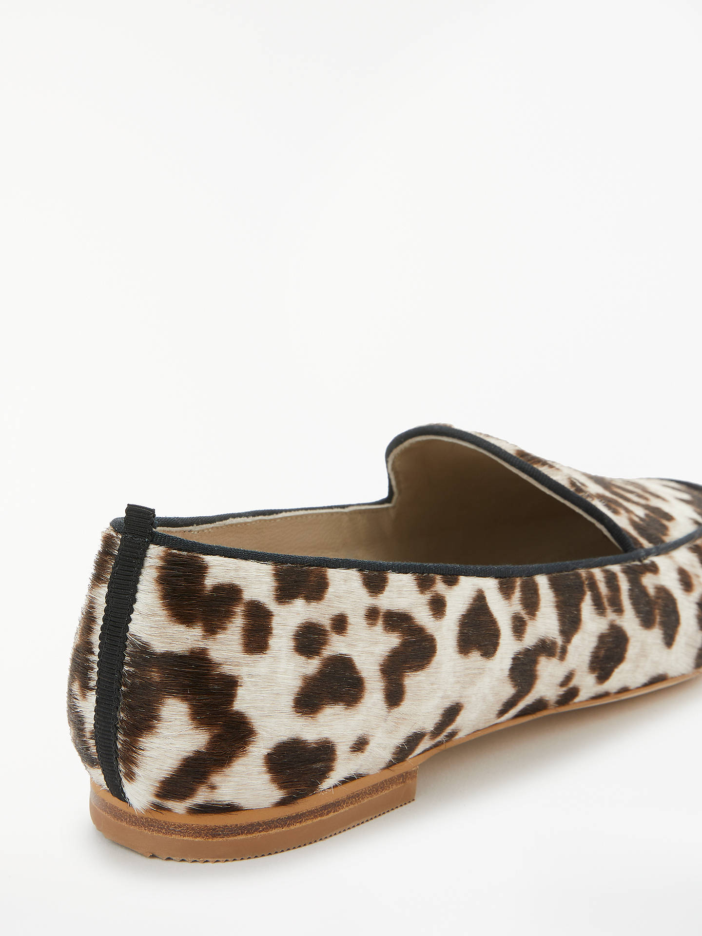 BuyBoden Imogen Hair-On-Hide Loafers, Snow Leopard, 4 Online at johnlewis.com