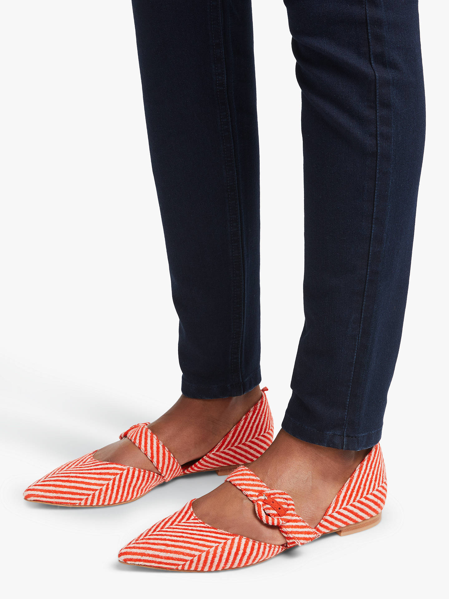 Buy Boden Evie Pointed Mary Jane Pumps, Gladioli Herringbone, 5 Online at johnlewis.com