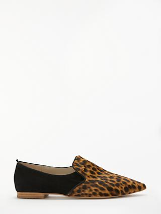 Boden Rosie Slipper Loafers, Tan Leopard