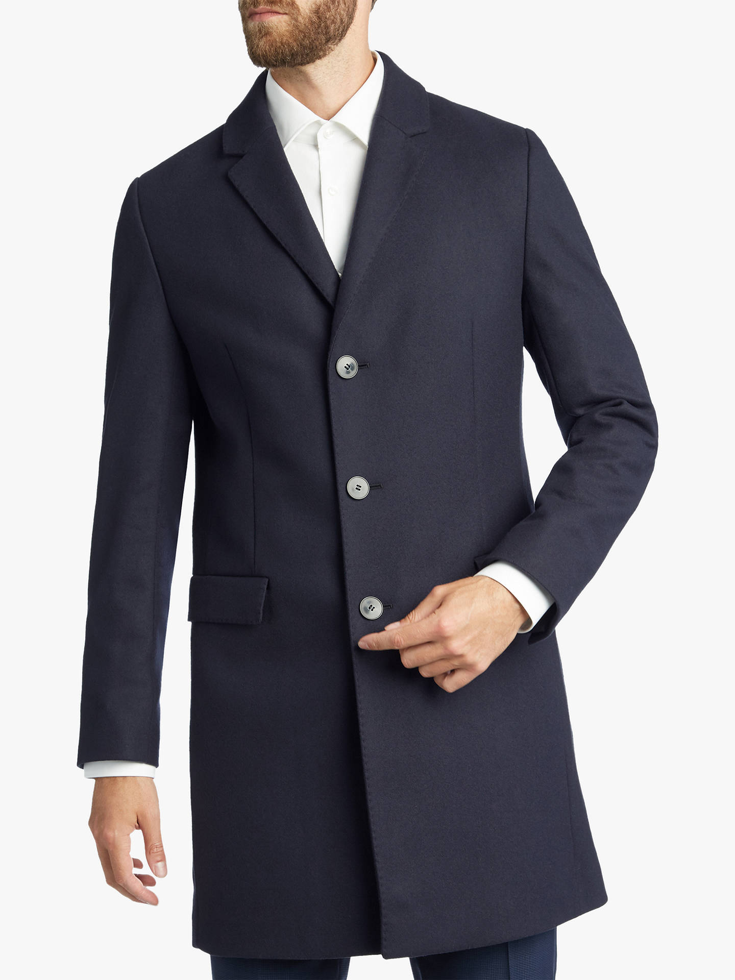 71ba51aa986 HUGO by Hugo Boss Migor1841 Slim Fit Overcoat at John Lewis & Partners