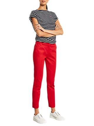 Mint Velvet Capri Trousers, Red