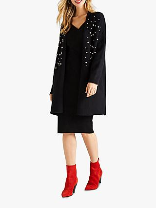 Yumi Embellished Cardigan, Black