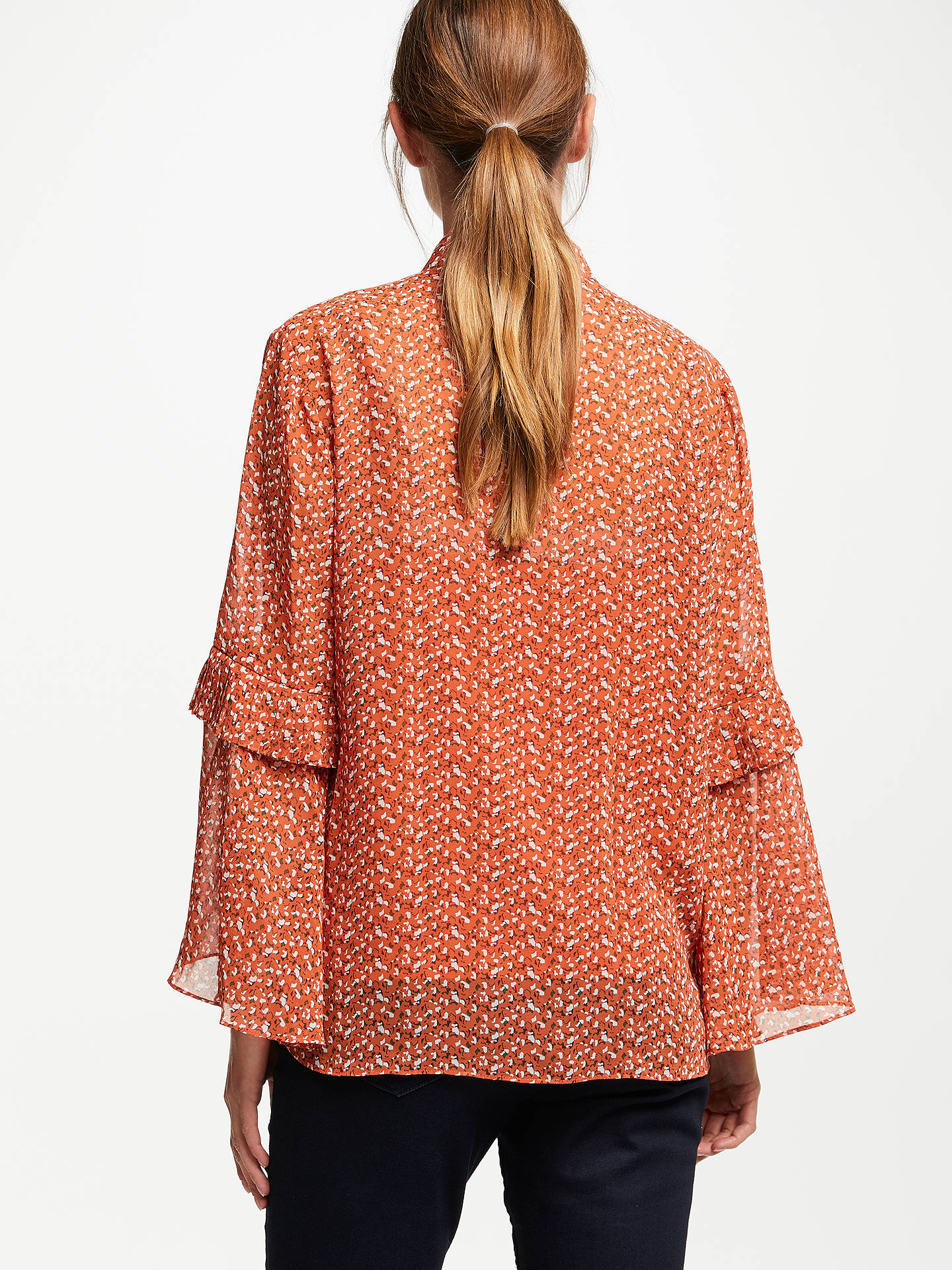 BuySecond Female Allo Bell Sleeve Shirt, Carneliine, L Online at johnlewis.com