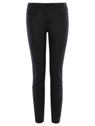 Karen Millen Coated Skinny Jeans, Black