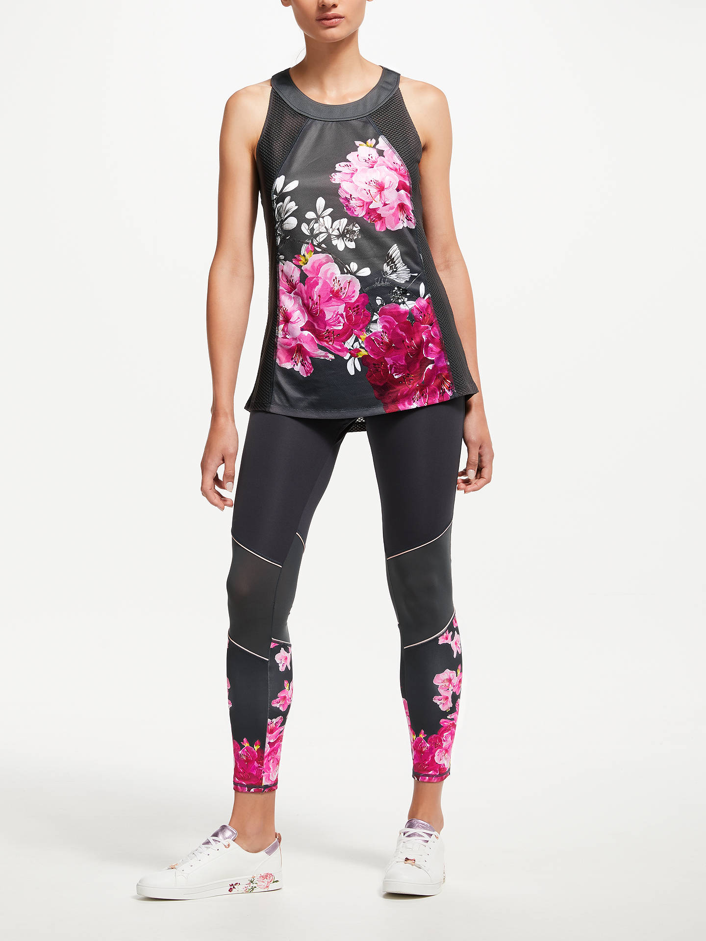 Buy Ted Baker Fit to a T Babylon Mesh Panelled Leggings, Grey/Multi, M Online at johnlewis.com
