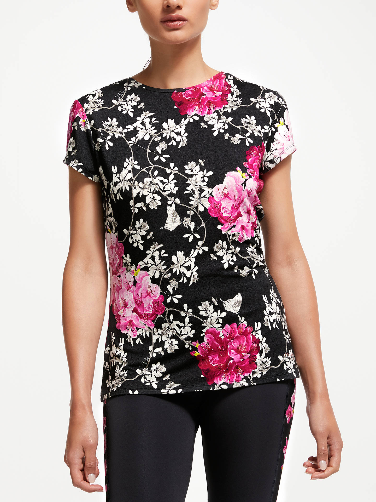 Buy Ted Baker Fit to a T Babylon Fitted T-Shirt, Multi, L Online at johnlewis.com