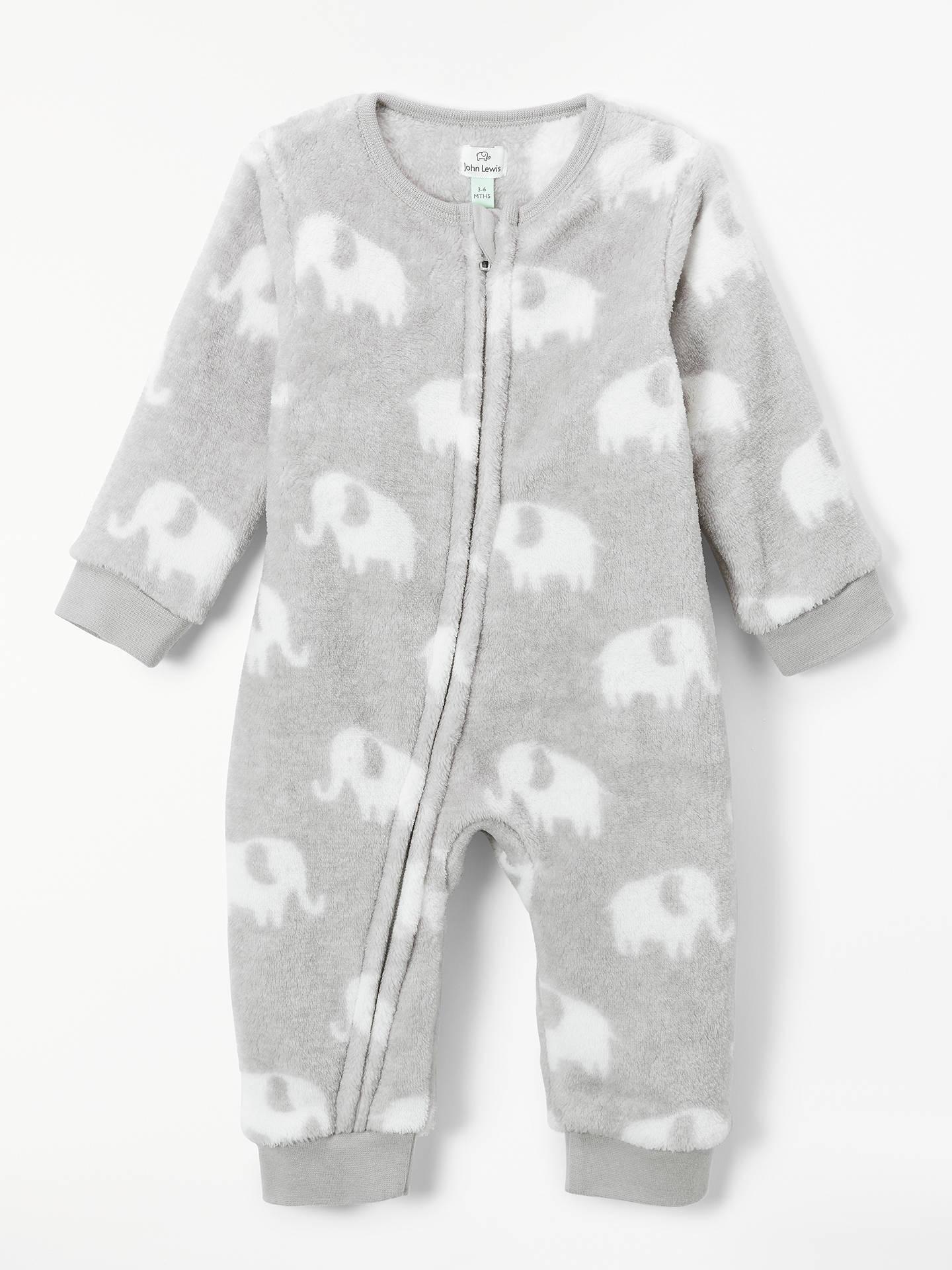 ead04a5a4cfc John Lewis   Partners Baby Elephant Fleece Onesie