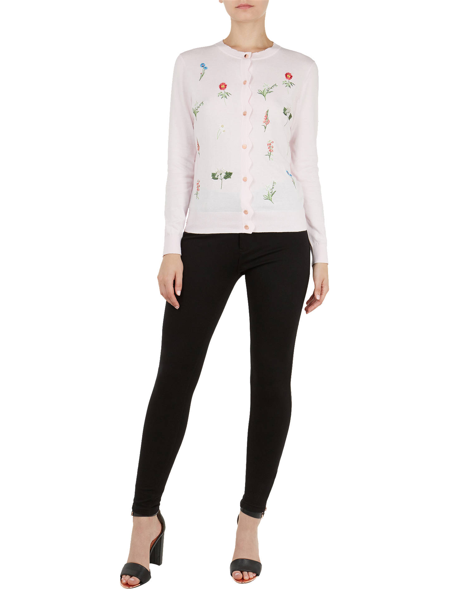 Buy Ted Baker Inyiss Floral Embroidery Cardigan, Pink, 1 Online at johnlewis.com