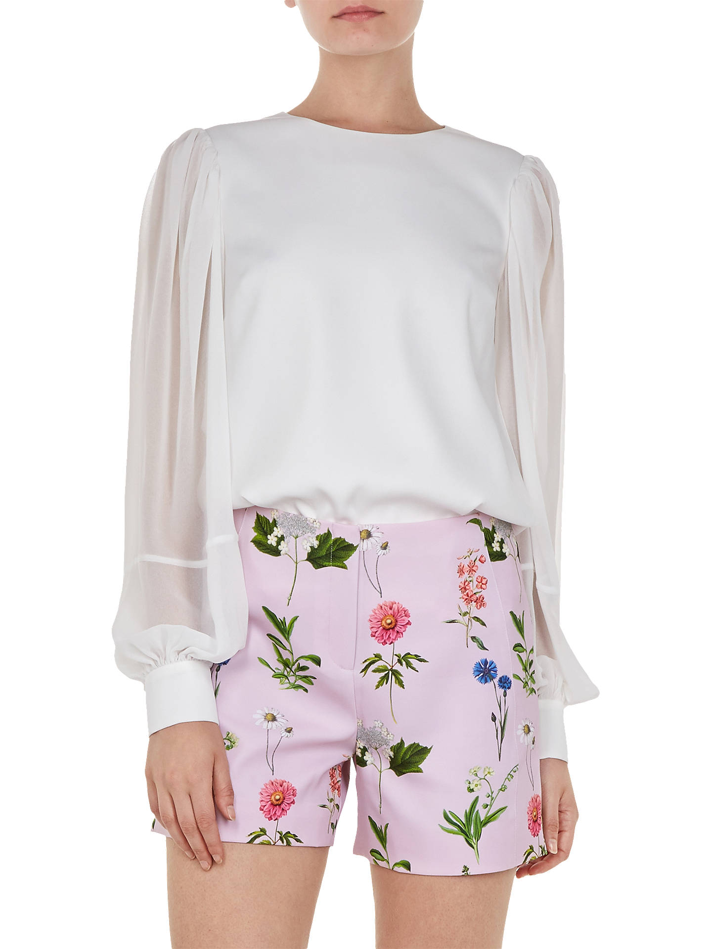 Buy Ted Baker Neeva Floral Shorts, Pink, 3 Online at johnlewis.com