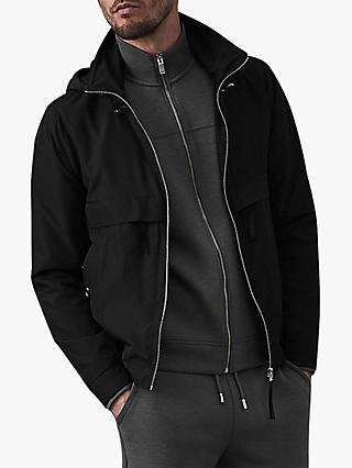 Reiss Bennette Hooded Jacket, Black