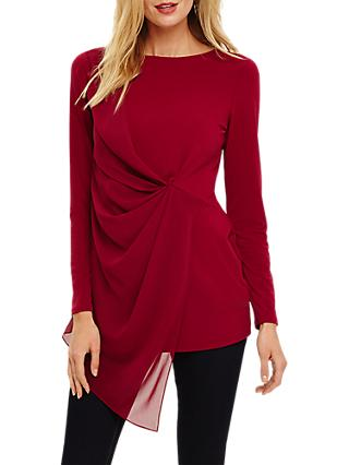 Phase Eight Valo Tunic Top, Garnet
