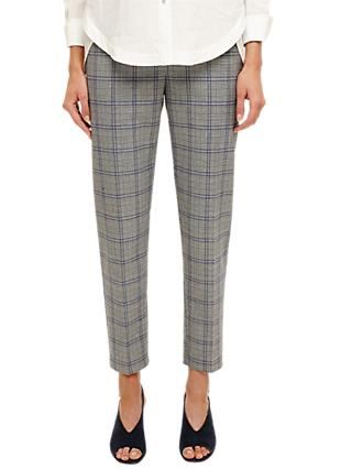 Phase Eight Terri Check Trousers, Grey